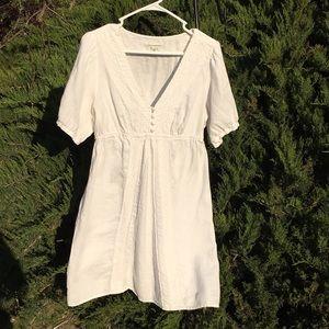 White linen Banana Republic summer dress